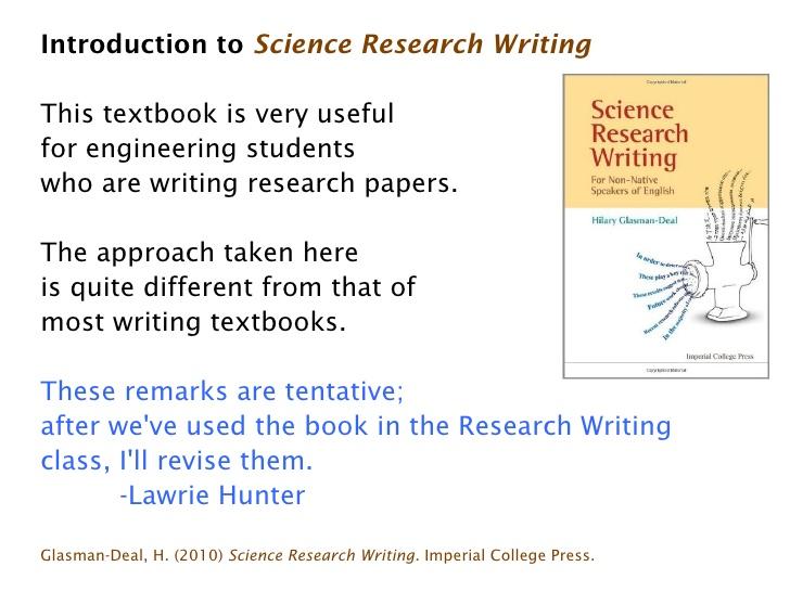 Testimoni buku science research writing karya hilary glasman-deal